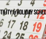 Utility & Holiday Schedule for 2017