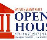 Water & Sewer Rate Open House