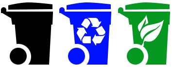 Trash collection bins